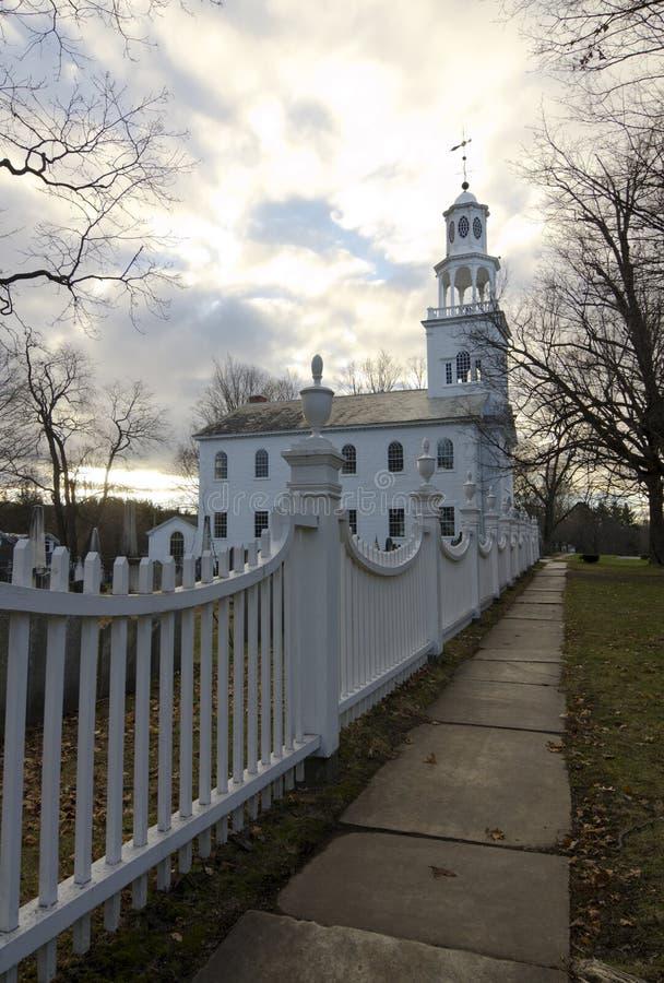 Vecchia prima chiesa ad alba, Bennington, Vermont immagini stock libere da diritti