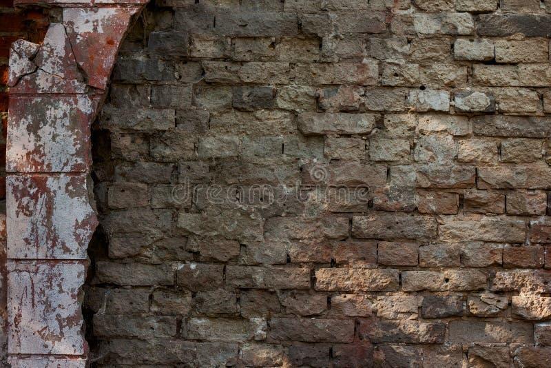 Vecchia priorità bassa del muro di mattoni immagine stock