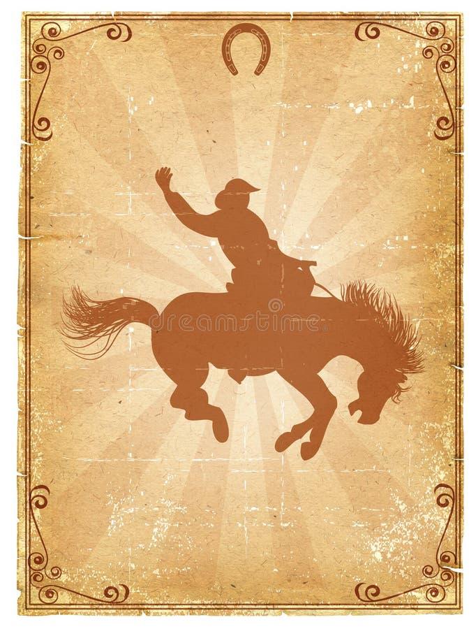 Vecchia priorità bassa di carta del cowboy illustrazione vettoriale