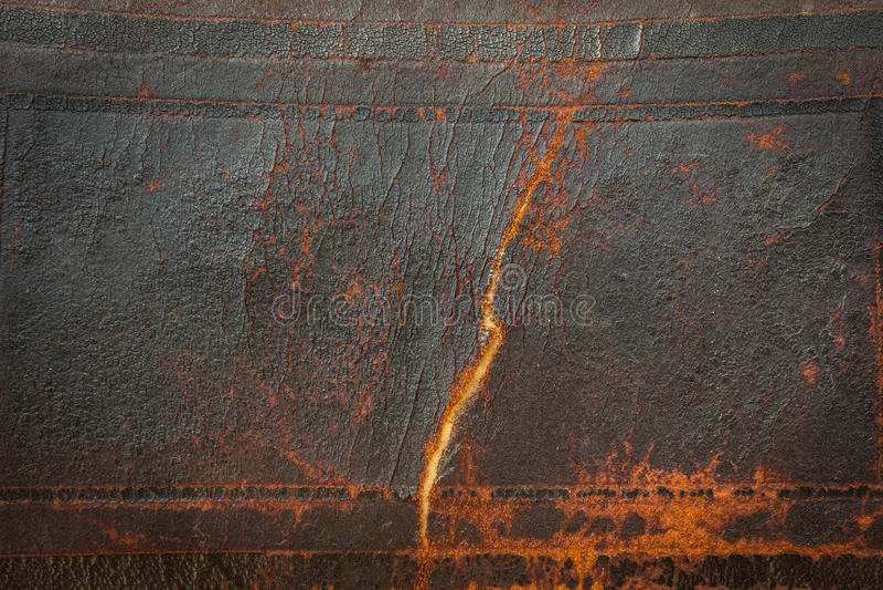 Vecchia priorità bassa di cuoio antica scura Grandi dettagli di struttura fotografia stock libera da diritti