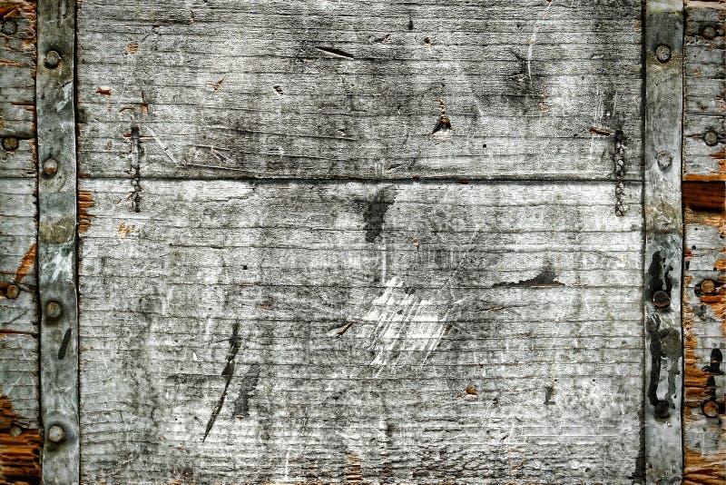 Vecchia priorità bassa di legno antica afflitta della casella fotografie stock libere da diritti