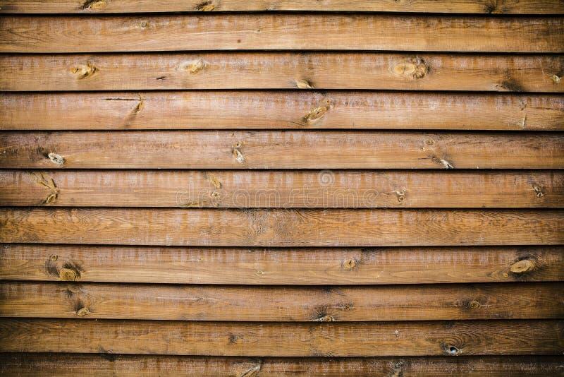 Vecchia priorità bassa di legno con le schede orizzontali immagine stock