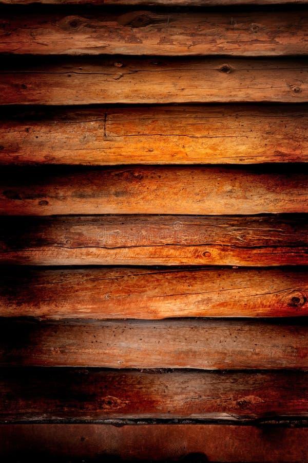 Vecchia priorità bassa di legno della parete della cabina di libro macchina fotografia stock libera da diritti
