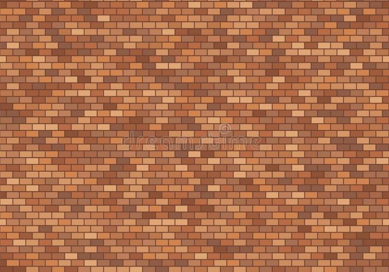 Vecchia priorit? bassa del muro di mattoni I mattoni rossi strutturano il vettore senza cuciture del modello royalty illustrazione gratis