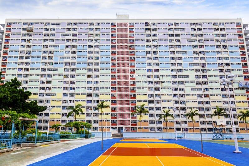 Vecchia proprietà residenziale pubblica in Hong Kong immagini stock libere da diritti