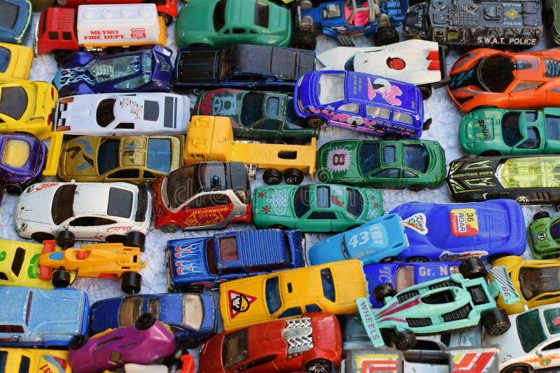 Vecchia raccolta dell'automobile del giocattolo fotografia stock libera da diritti