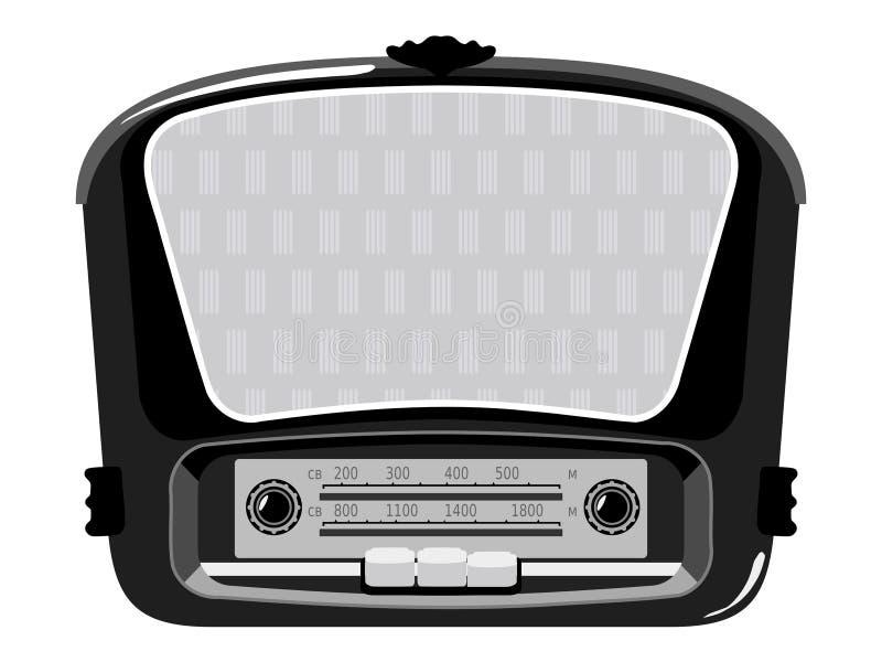 Vecchia radio illustrazione di stock