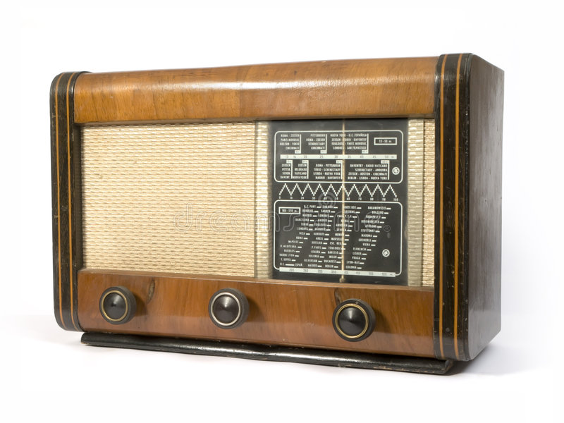 Download Vecchia radio fotografia stock. Immagine di elettricità - 3877932
