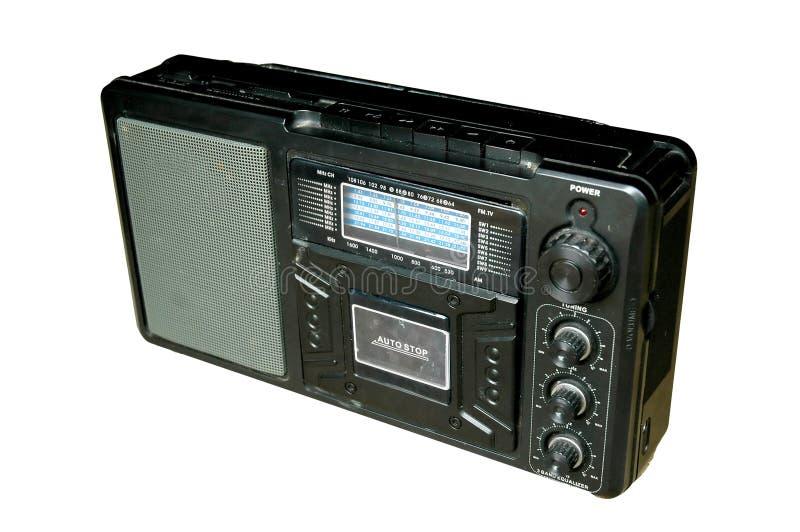 Vecchia radio nera fotografia stock