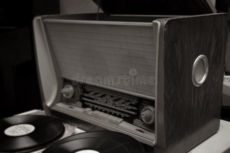 Vecchia radio sovietica fotografie stock
