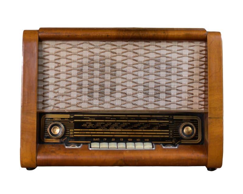 Vecchia radio sovietica fotografia stock