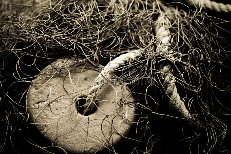 Vecchia rete da pesca fotografia stock libera da diritti