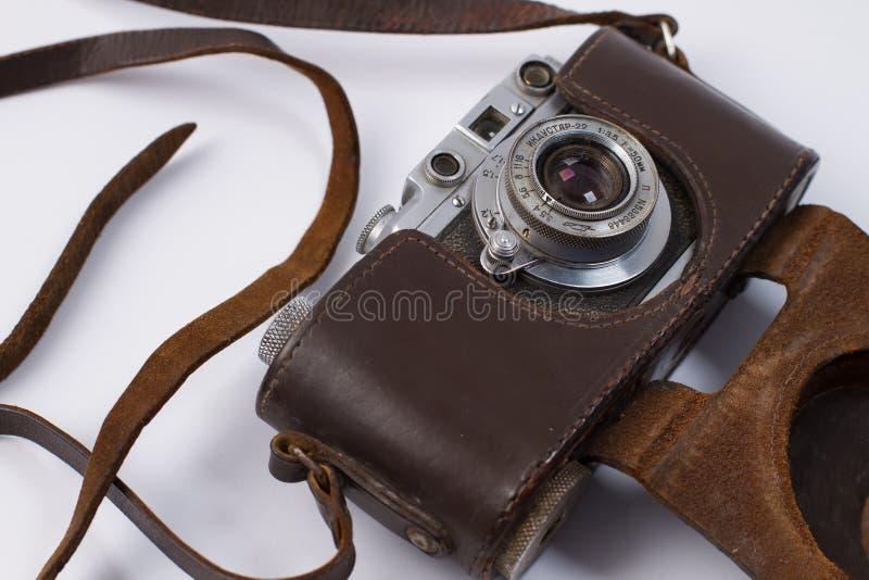 Vecchia retro macchina fotografica fotografia stock