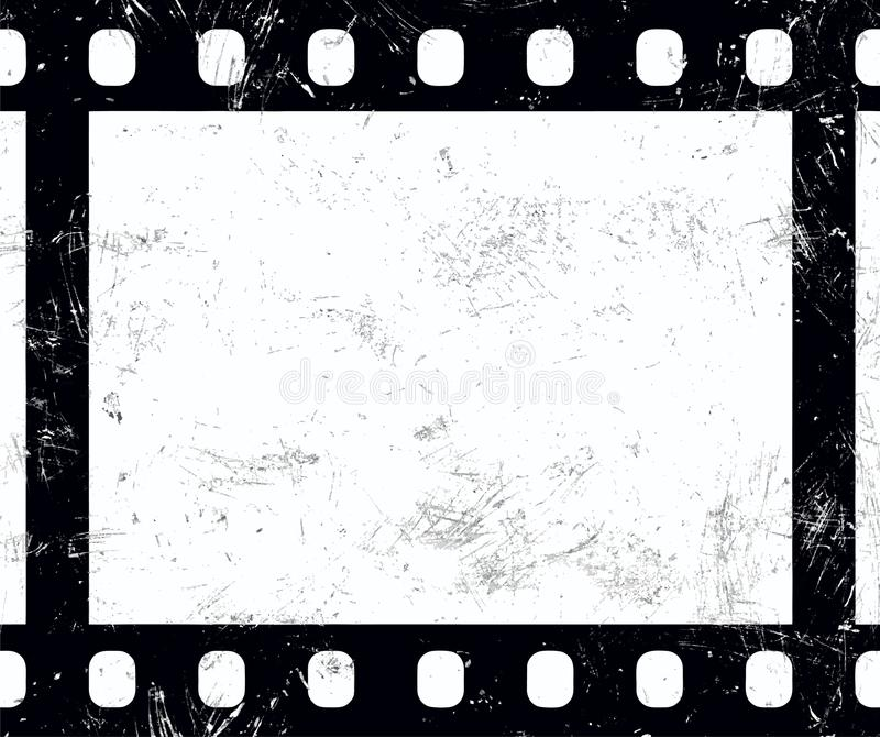 Vecchia retro struttura di film d'annata di lerciume di 35 millimetri royalty illustrazione gratis