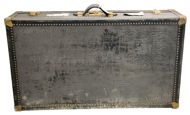 Vecchia retro valigia d'annata di viaggio isolata immagini stock libere da diritti