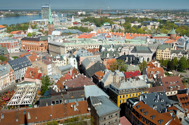 Vecchia Riga. fotografie stock libere da diritti