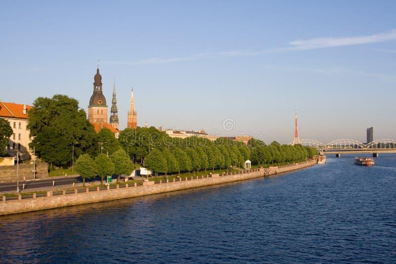 Vecchia Riga nell'estate, Latvia fotografie stock libere da diritti