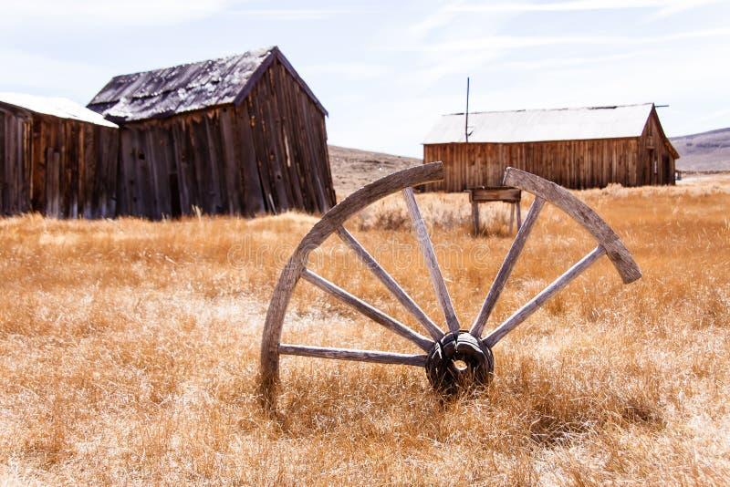 Vecchia rotella di vagone immagine stock