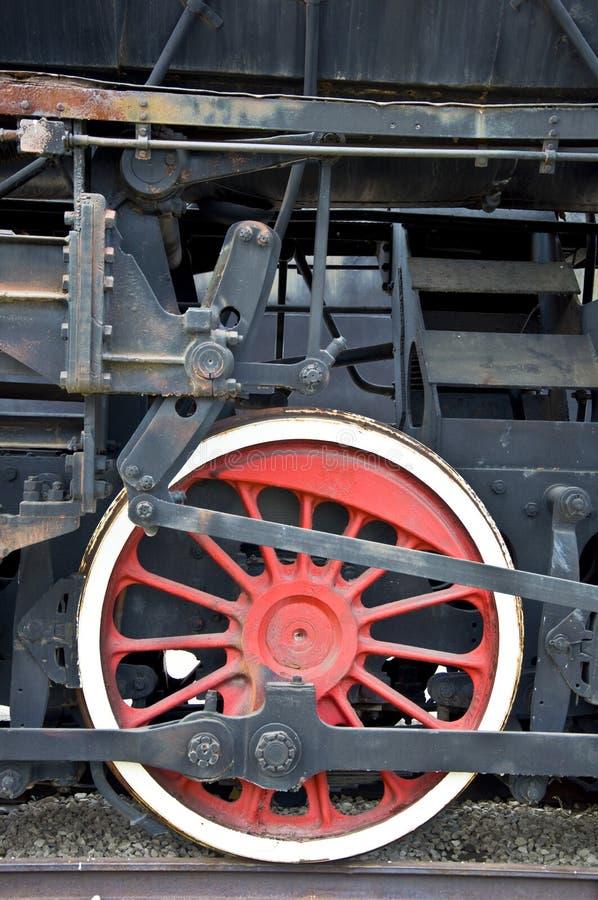 Vecchia rotella locomotiva fotografie stock