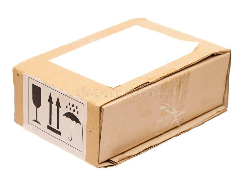 Vecchia scatola di cartone vuota fotografia stock
