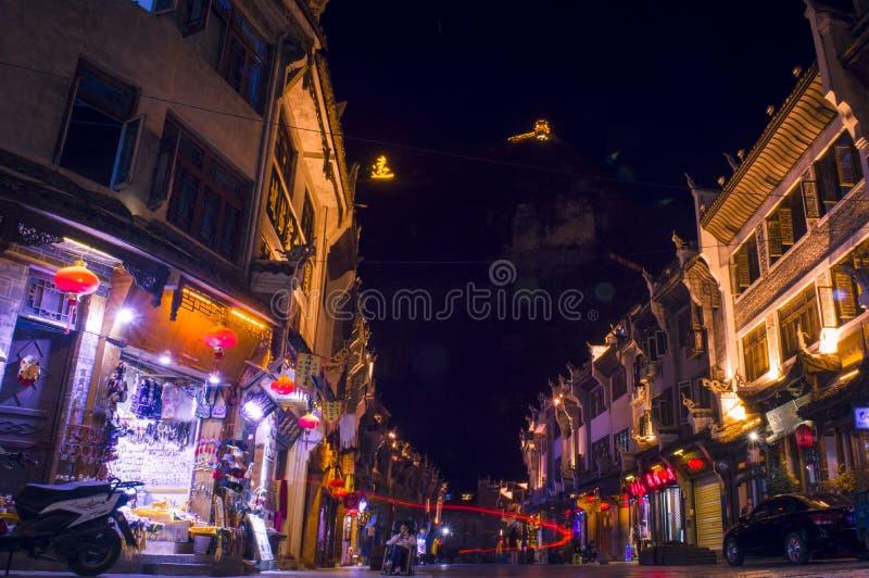 Vecchia scena 20 di notte della città di Zhenyuan fotografia stock libera da diritti