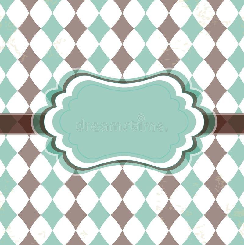 Vecchia scheda dell'annata con i rhombuses illustrazione vettoriale