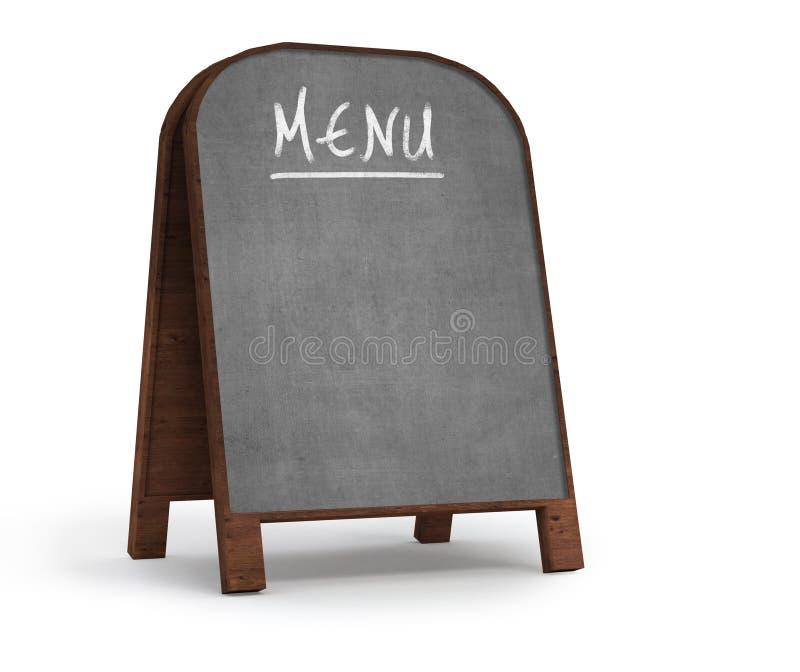 Vecchia scheda di avviso del menu illustrazione vettoriale