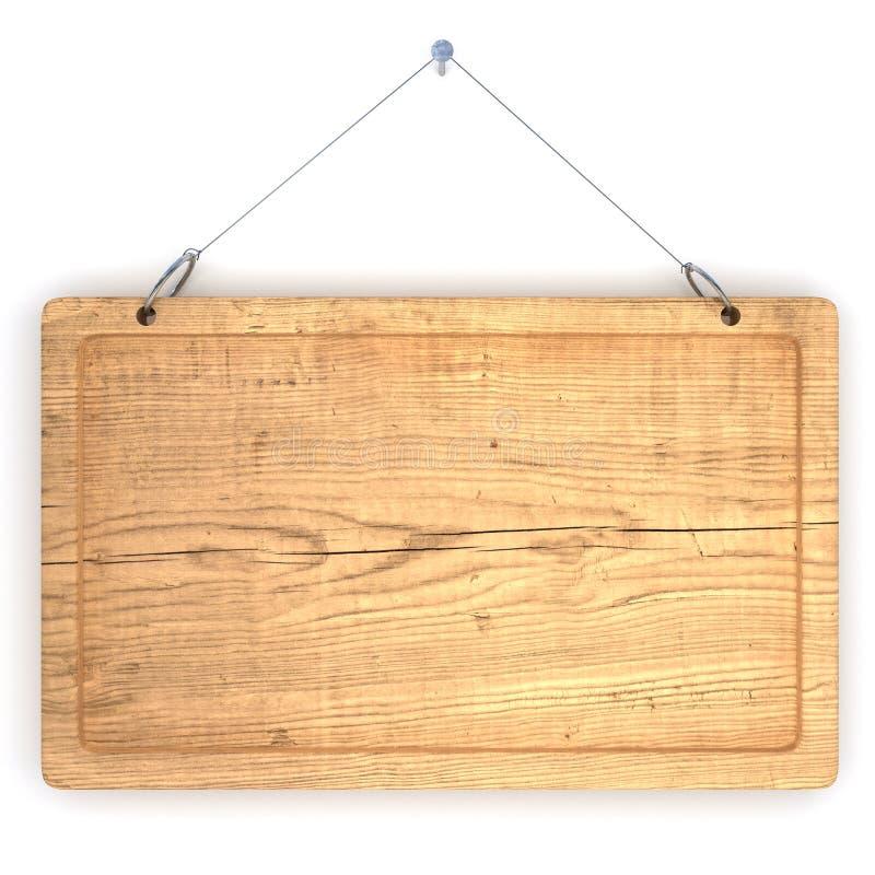Vecchia scheda di avviso di legno royalty illustrazione gratis
