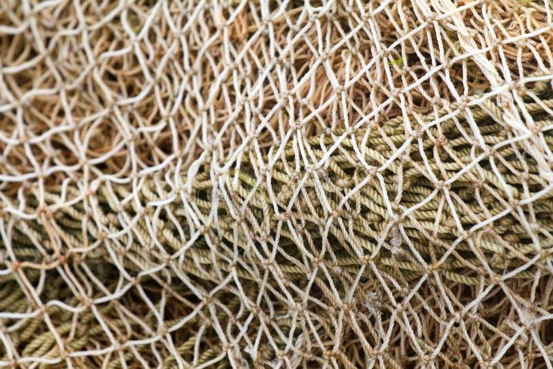 Vecchia sciabica della rete da pesca della corda immagine for Rete da pesca arredamento