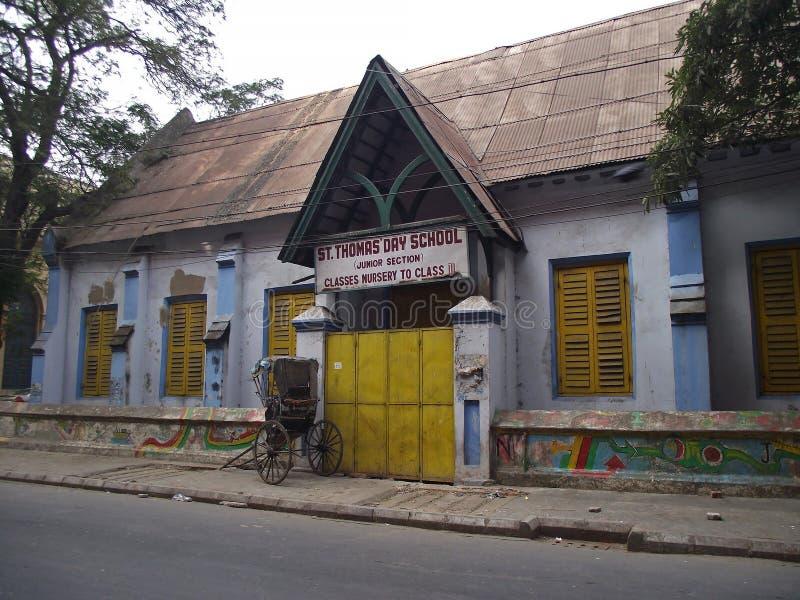 Vecchia scuola in alcutta del ¡ di Ð immagine stock libera da diritti