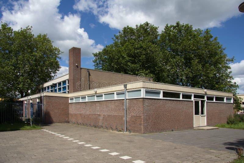 Vecchia scuola di sport in Hoogeveen, Paesi Bassi fotografia stock