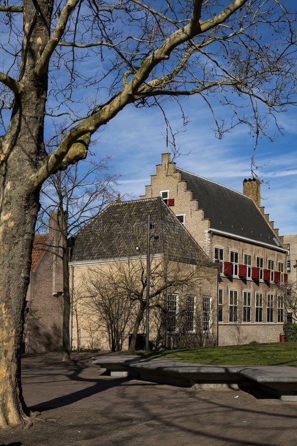 Vecchia scuola Kloostertuinen, Dordrecht, Paesi Bassi fotografie stock