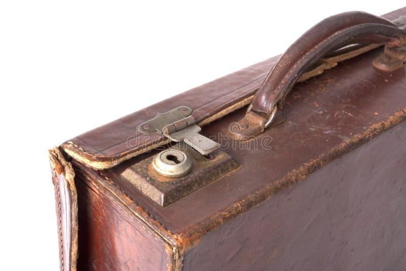 Vecchia serratura della valigia immagine stock libera da diritti