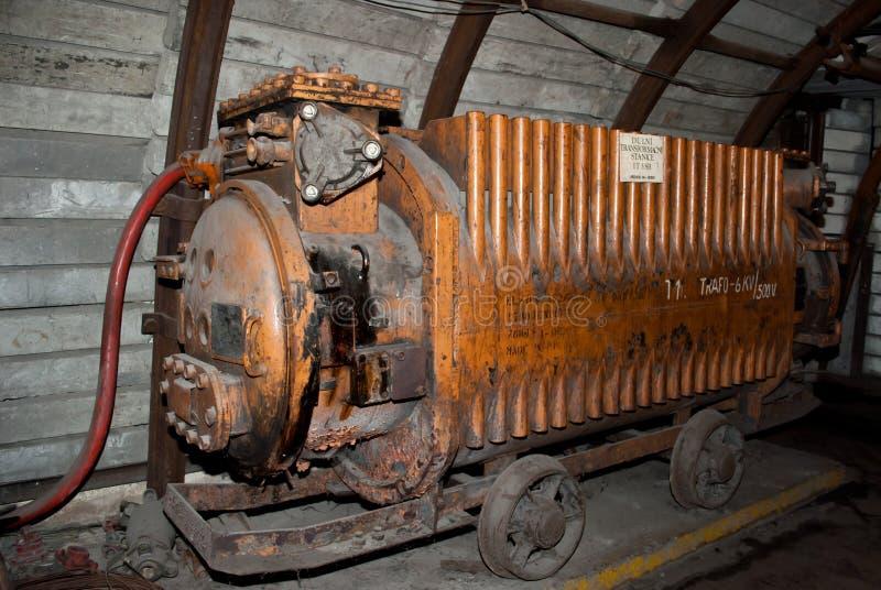 Vecchia sottostazione di estrazione mineraria fotografia stock libera da diritti