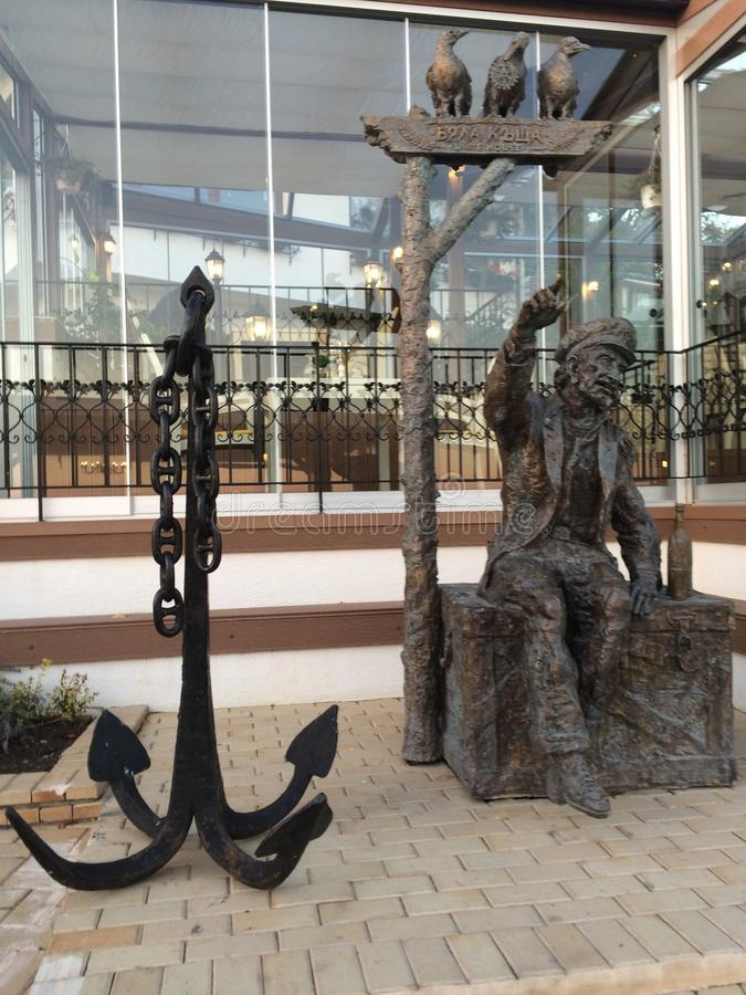 Vecchia statua capitan immagine stock libera da diritti