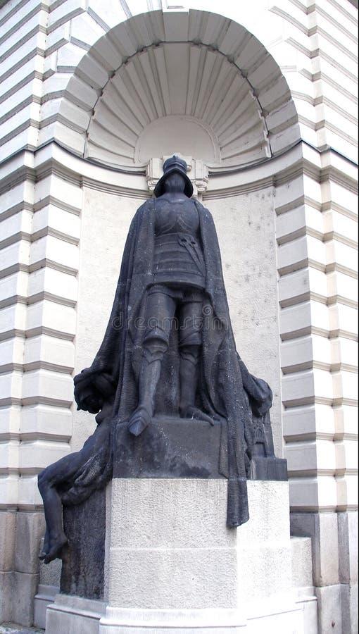 Vecchia statua di Templar immagini stock libere da diritti