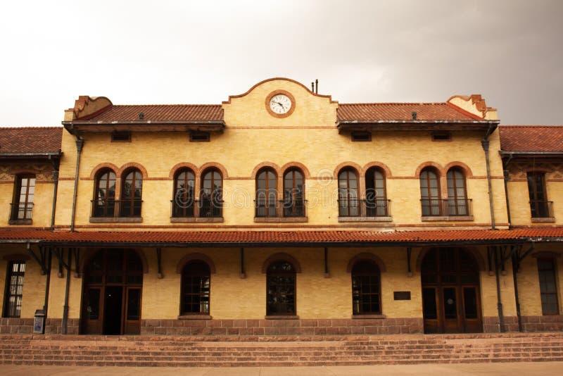 Vecchia stazione ferroviaria fotografia stock libera da diritti