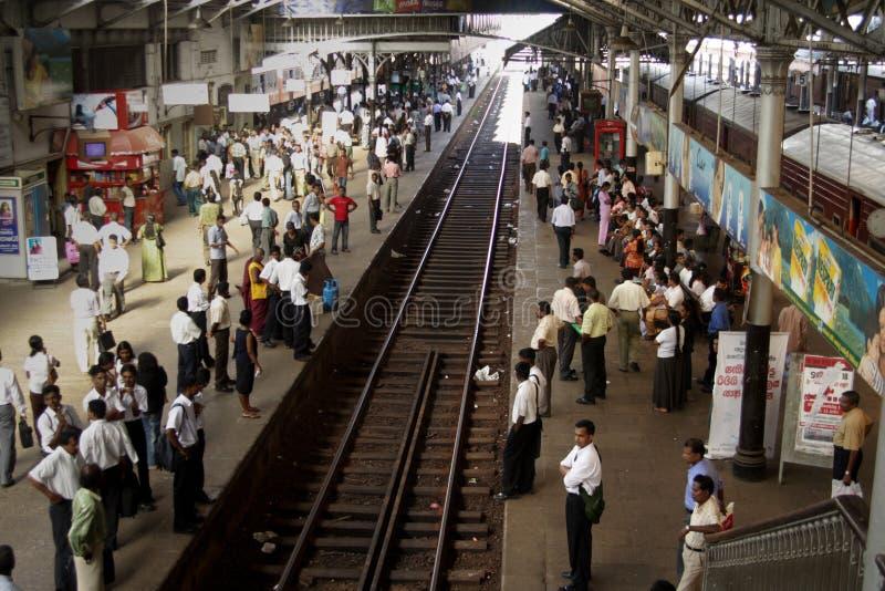Vecchia stazione ferroviaria britannica scenica di Colombo fotografie stock