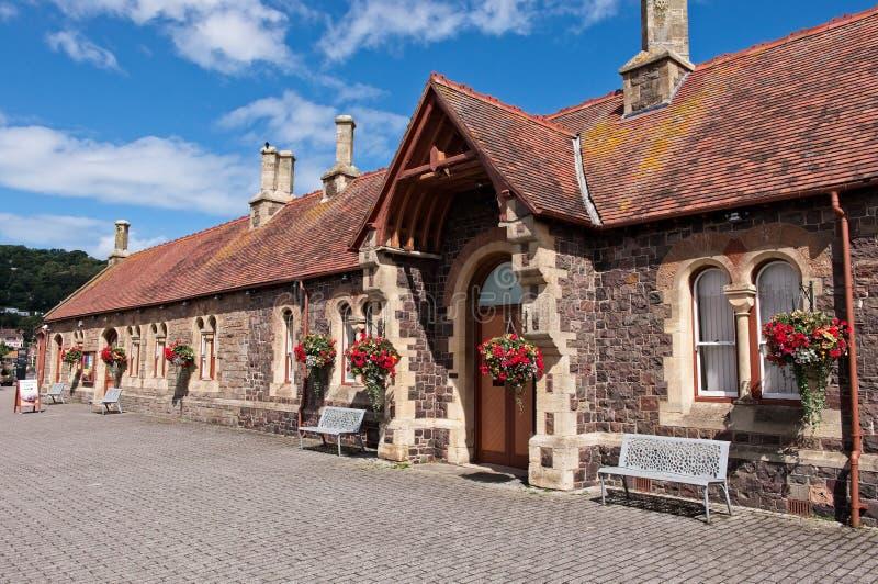 Vecchia stazione ferroviaria di Minehead, Somerset, Regno Unito immagini stock