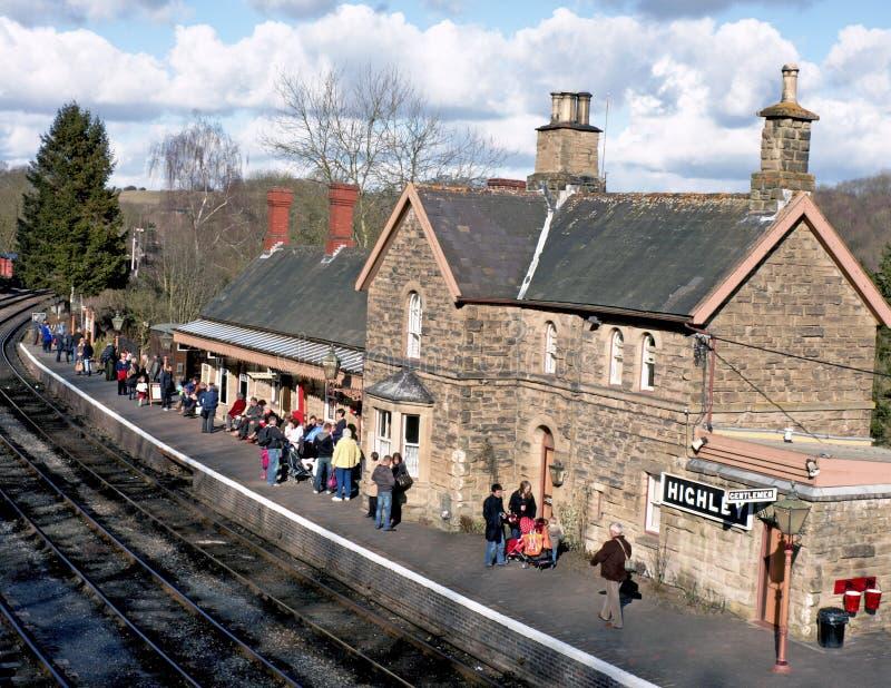 Vecchia stazione ferroviaria rurale immagine stock