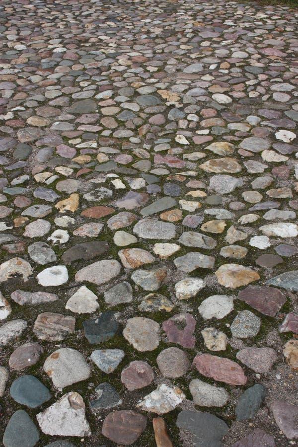 Vecchia strada dei cobblestones. immagine stock