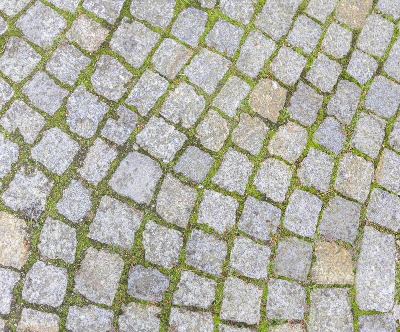 Vecchia strada del cobblestone fotografia stock libera da diritti