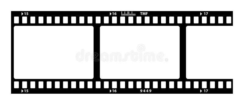 Vecchia striscia della pellicola royalty illustrazione gratis