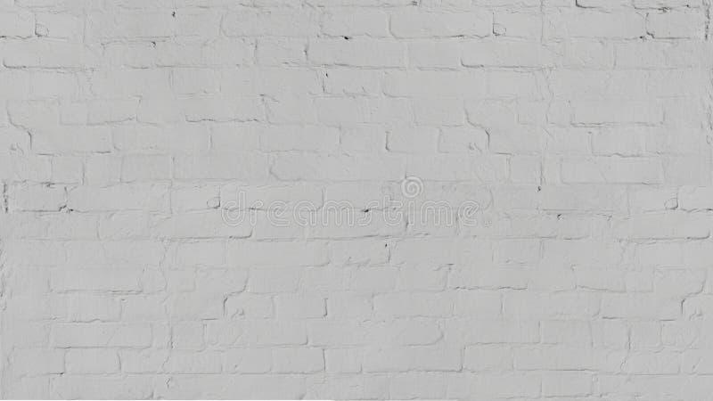 Vecchia struttura bianca d'annata del muro di mattoni del lavaggio per progettazione Fondo panoramico per il vostro testo o immag immagine stock
