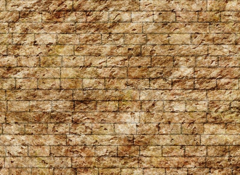 Vecchia struttura d'annata del modello del muro di mattoni illustrazione di stock