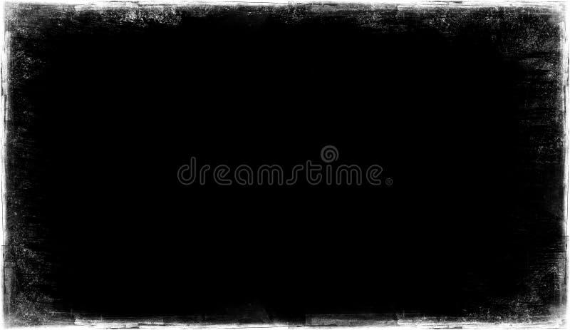 Vecchia struttura d'annata su un fondo nero Sovrapposizioni del confine fotografia stock libera da diritti