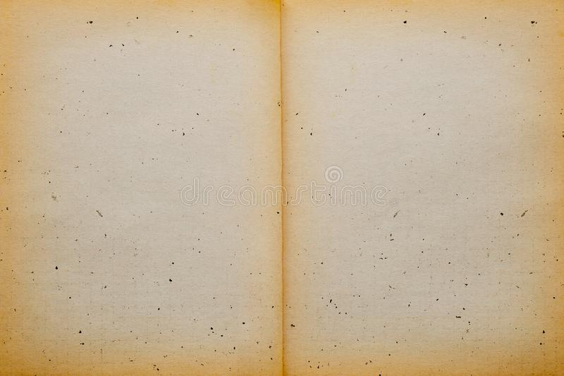 Vecchia struttura d'annata vuota della carta della pagina fotografie stock