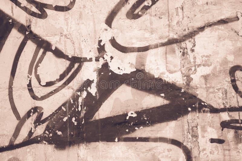 Vecchia struttura del fondo della parete di lerciume beige immagini stock