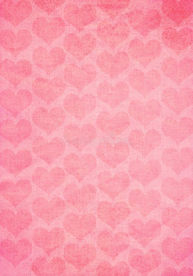 Vecchia struttura di carta dei biglietti di S. Valentino royalty illustrazione gratis