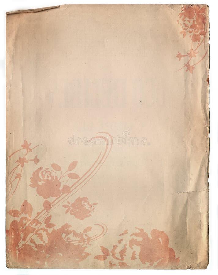 Vecchia struttura di carta della priorità bassa con un disegno floreale royalty illustrazione gratis